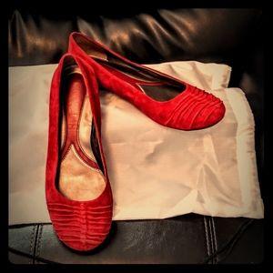 Beautiful Cushioned Red  Flat Fashions ❤